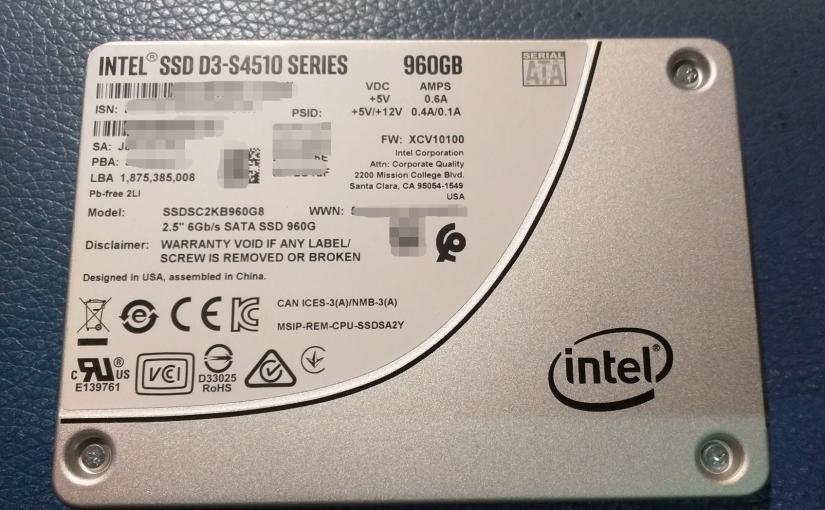Intel SSD D3-S4510 简单测试 & 微软动态磁盘带区卷性能体验