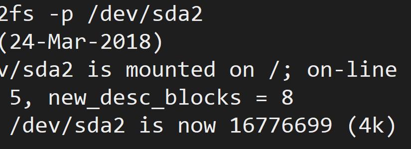 Ubuntu 18.04 磁盘根目录在线扩容 & 修改分区 inode 数量